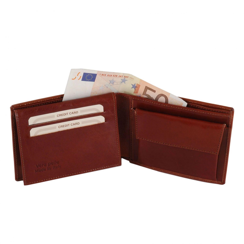 Esclusivo portafoglio uomo in pelle 3 ante con portaspiccioli ...