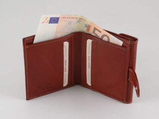 Esclusivo portafogli in pelle da donna Nero TL140780