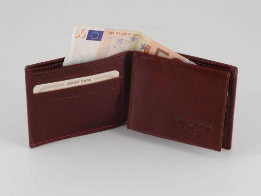 Esclusivo portafoglio uomo in lucertola Rosso TL140810