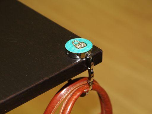Portaborse da tavolo smaltato Borsetta Rosa TL140876