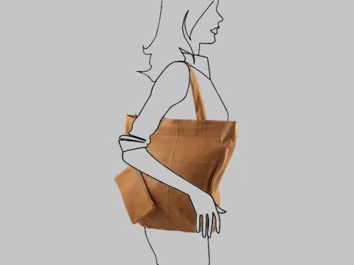Ludovica Borsa Shopper in Nappa Patchwork Testa di Moro TL140888