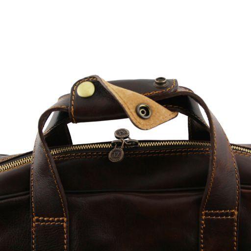 Reggio Emilia Exklusive Leder - Notebooktasche Dunkelbraun TL140889