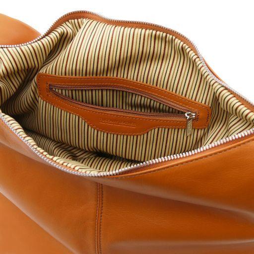 Yvette Borsa hobo in pelle morbida Cognac TL140900
