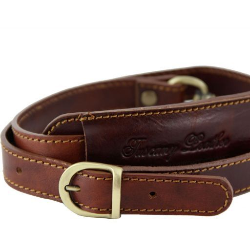 Bandoulière réglable en cuir pour sacs de voyage Rouge SP141028