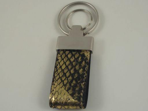 Esclusivo portachiavi in pitone Oro TL140736