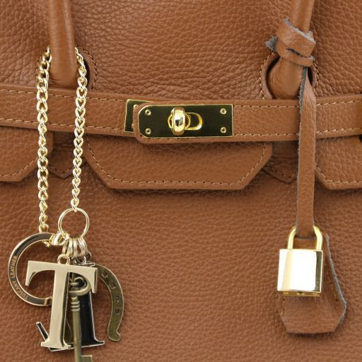TL KeyLuck Bolso a mano con detalles color oro Azul oscuro TL141092