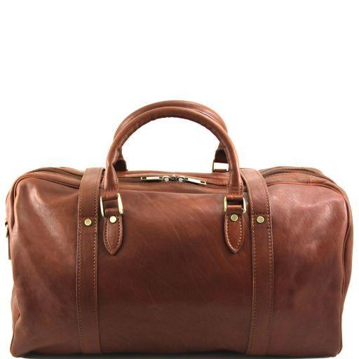 TL Travel Sac de voyage en cuir avec boucles Marron TL151102
