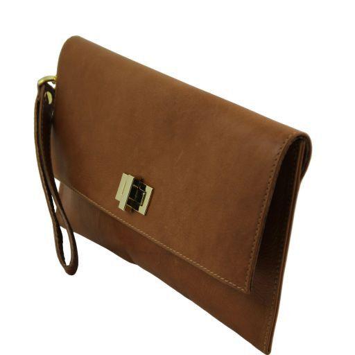TL Bag Pochette en cuir Turquoise TL141109