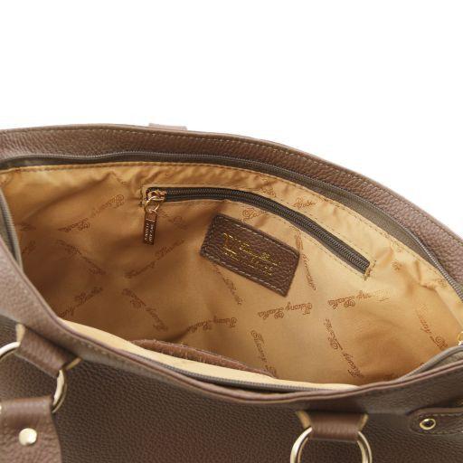 TL KeyLuck Citybag con dettagli color oro Cognac TL141117