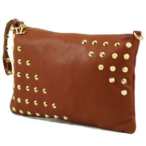 TL Rockbag Borsa con borchie sul manico - Grande Cognac TL141122