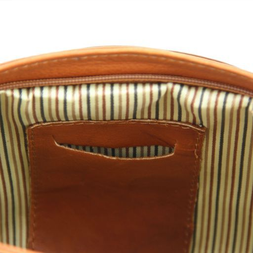TL Rockbag Borsa in pelle con borchie e nappa Blu TL141125