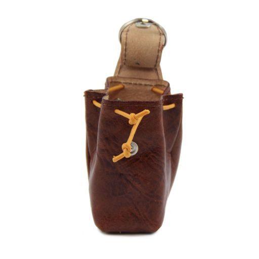 Esclusivo zainetto portachiavi in pelle Marrone TL141157