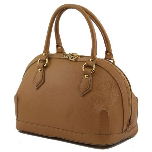 TL Bag Petit Bauletto en cuir Cognac TL141158