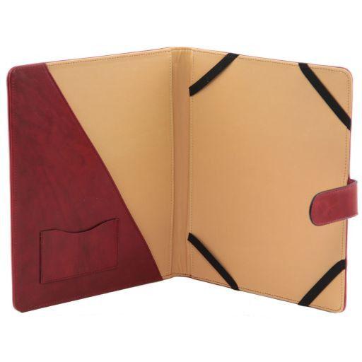 Porta iPad en piel con cierre a presión Miel TL141170