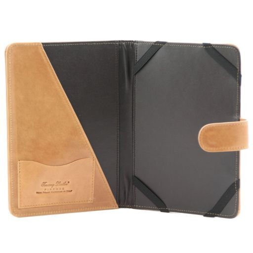 Porta iPad Mini 4 in pelle con bottone Arancio TL141171