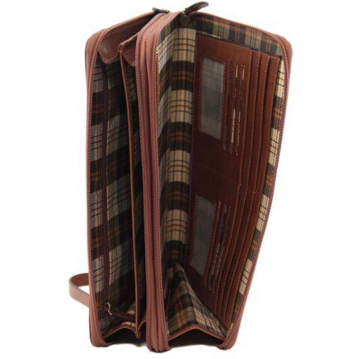 Tiberio Elegante portadocumentos en piel Marrón FC141179