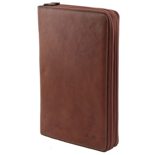 Tiberio Exclusive Leather Document Case Коричневый FC141179