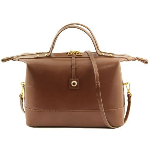 TL Bag Bauletto medio in pelle Beige TL141190
