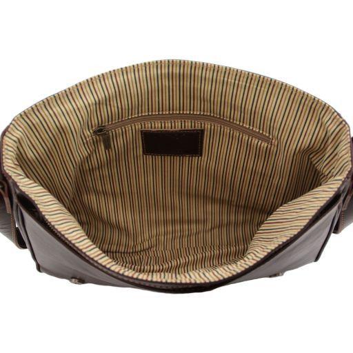 Messenger New style - Borsa in pelle - Misura grande Marrone TL141198
