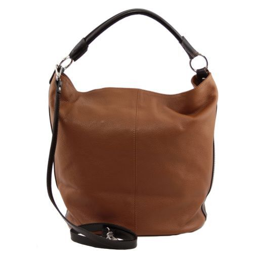 TL Bag Borsa secchiello da donna in pelle Blu TL141201