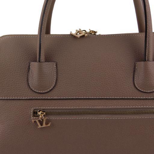 TL Bag Bauletto in pelle con accessori oro Verde scuro TL141210