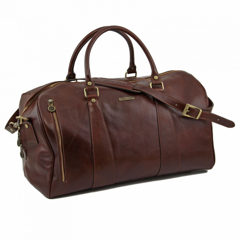 Tuscany Leather - TL Voyager - Sac de voyage en cuir - Grand modèle Rouge - TL141217/4 0RnHhvHyu