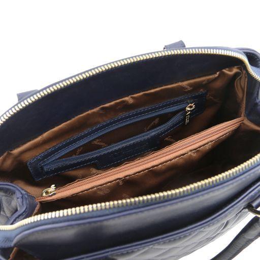 TL KeyLuck Bauletto en cuir souple matelassé Ivoire TL141222