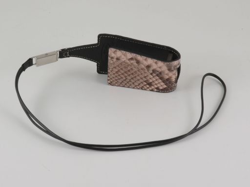 Porte telephone portable en Python Grand modèle Rose TL140740