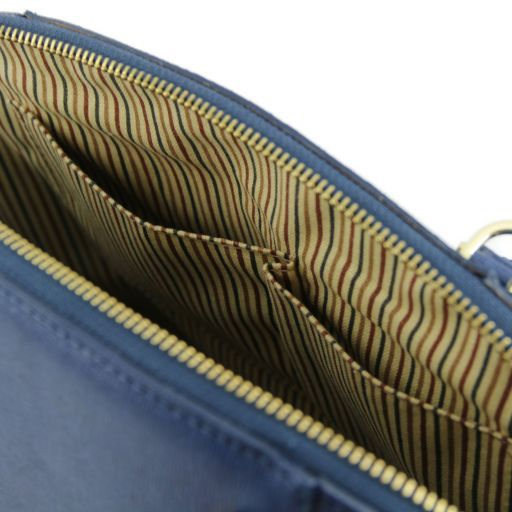 TL Bag Bolso a mano en piel Saffiano con hebillas Negro TL141236