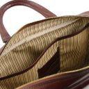 Urbino Notebook-Aktentasche aus Leder mit Vorderfach Dunkelblau TL141241