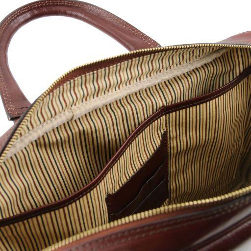Urbino Cartella in pelle porta computer con tasca frontale Nero TL141241