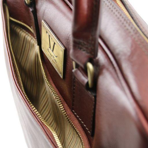 Urbino Кожаный портфель для ноутбука с передним карманом Коричневый TL141241