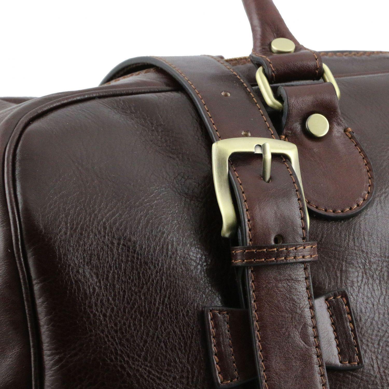 Tuscany Leather - TL Voyager - Sac de voyage en cuir avec boucles - Petit modèle Marron - TL141249/1 QsYAo