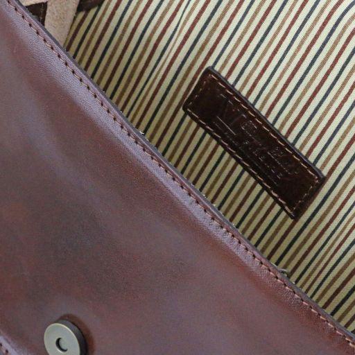 Jenny Tracollina in pelle con pattella - Misura grande Miele TL141251