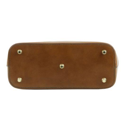 TL Bag Shopper Tasche aus Leder - Klein Schwarz TL141264