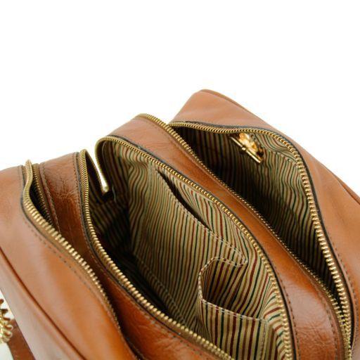 TL NeoClassic Bauletto aus Leder mit Schulterkette und Quasten Cognac TL141266