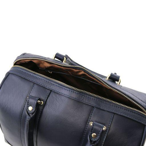 TL KeyLuck Bauletto in pelle morbida con accessori color oro Blu TL141284