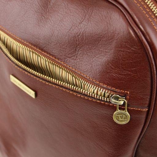 Osaka Notebook Rucksack aus Leder Rot TL141308