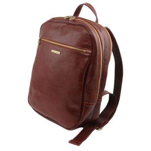 Osaka Кожаный рюкзак для ноутбука с отделением впереди Красный TL141308