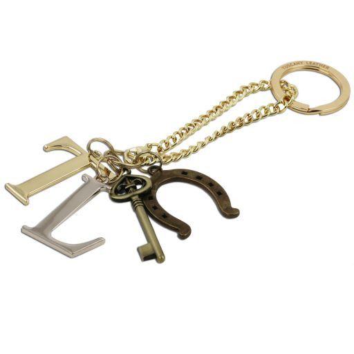 TL KeyLuck Borsa a mano media in pelle stampa spigata Talpa scuro TL141313
