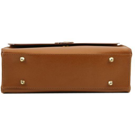 TL Bag Borsa a mano in pelle Saffiano e tracolla staccabile Beige TL141318