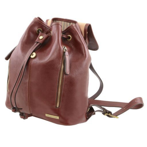 Jakarta Exklusiver Rucksack aus Leder Rot TL141341