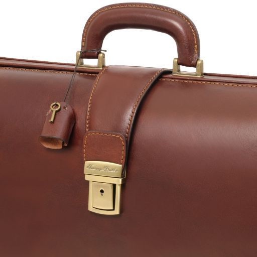Canova Leather Doctor bag briefcase 3 compartments Brown TL141347