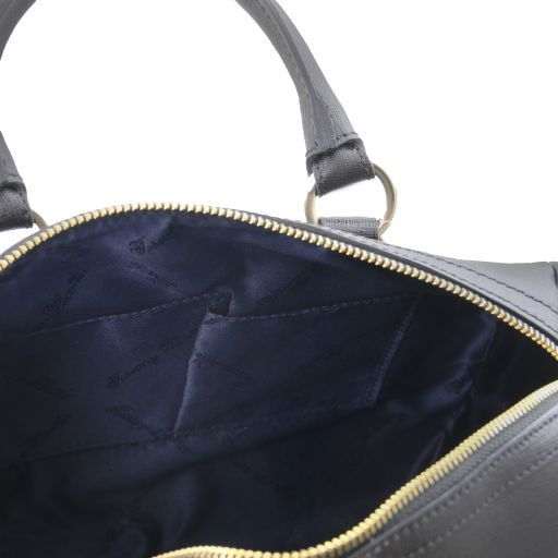 TL Keyluck Saffiano leather duffle bag Black TL141364