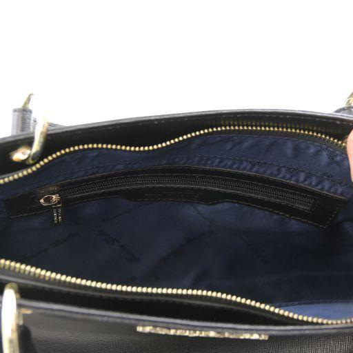 TL Bag Borsa a mano in pelle Saffiano con due manici Talpa chiaro TL141367