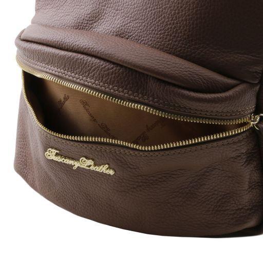 TL Bag Zaino donna in pelle morbida Corallo TL141370