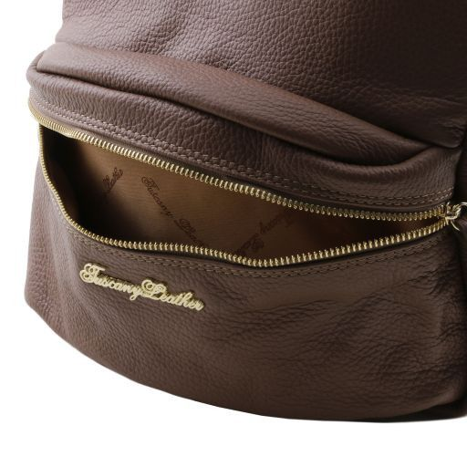 TL Bag Soft leather backpack for women Светлый серо-коричневый TL141370
