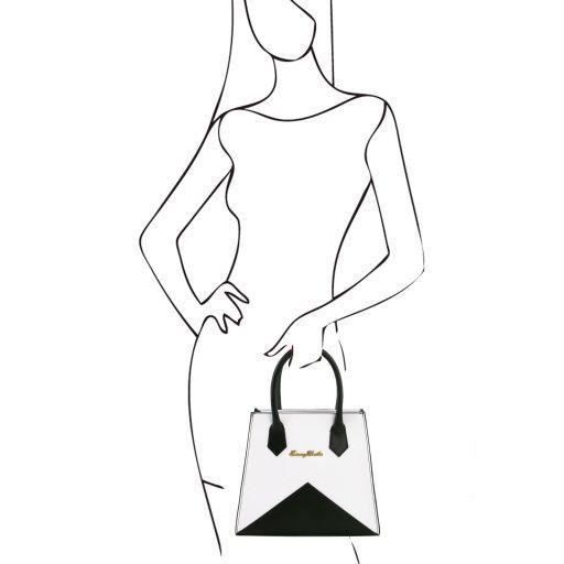 Afrodite Borsa Origami in pelle Nero TL141374