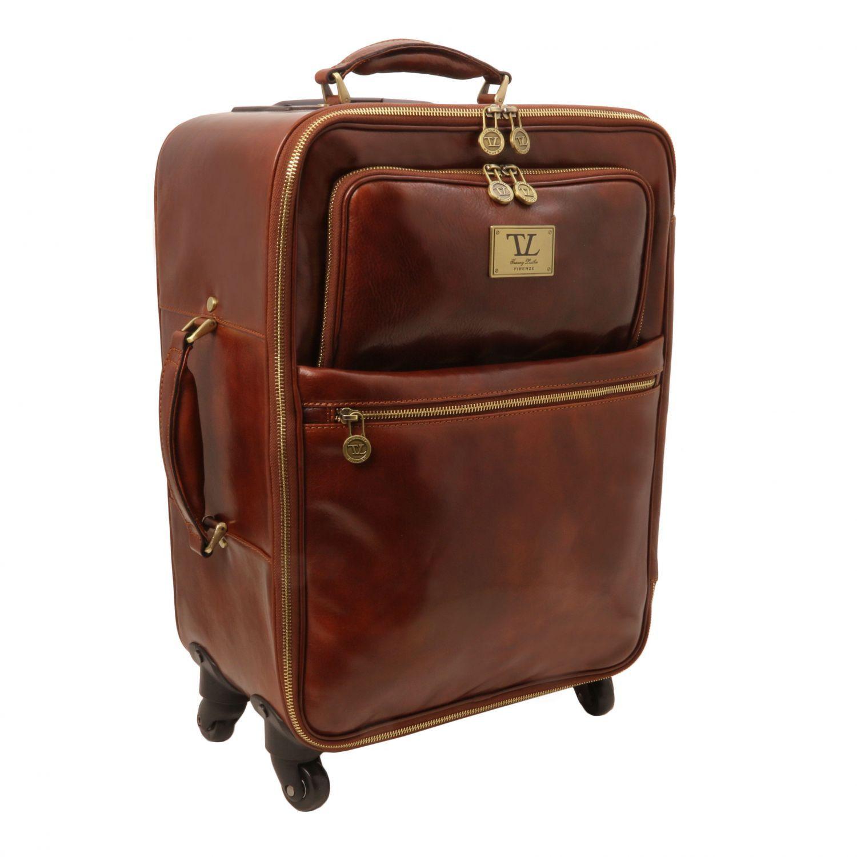 Tuscany Leather TL Voyager Valise verticale en cuir avec deux roulettes Miel yBWmBJ