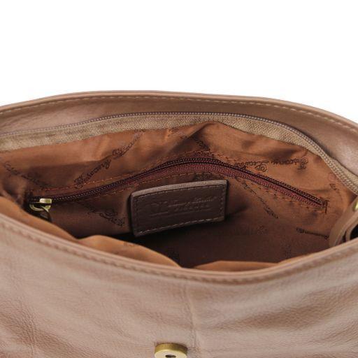 TL Bag Borsa morbida a tracolla con nappa Talpa scuro TL141393